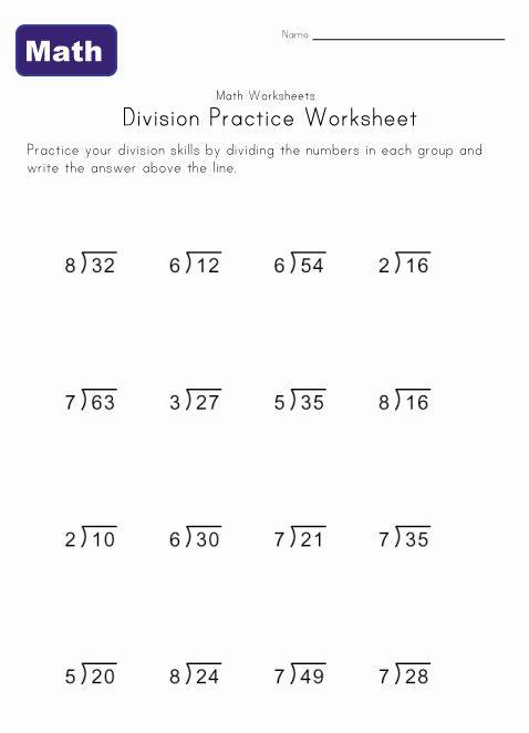 Single Digit Division Worksheet 6
