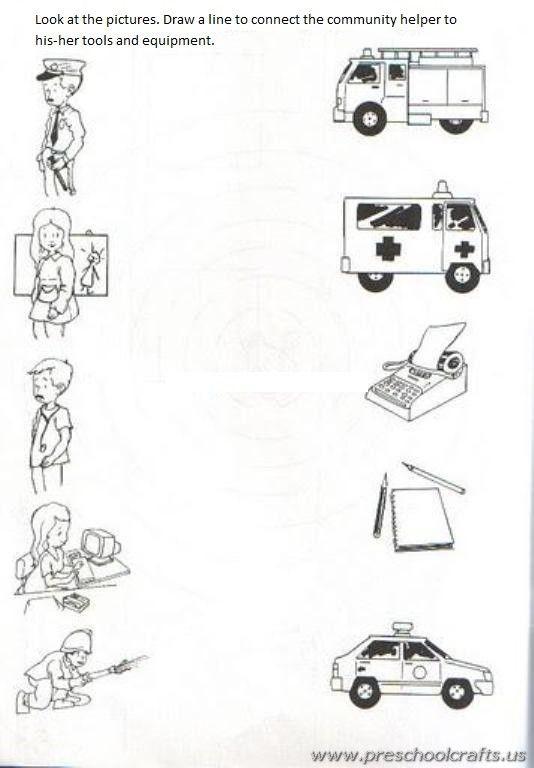 Community Helpers Printable Worksheets For Kids