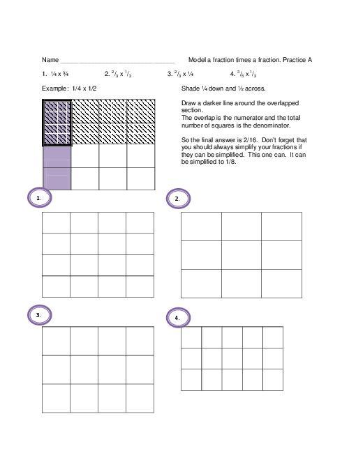 2 Digit By 2 Digit Multiplication Using Area Model Worksheets