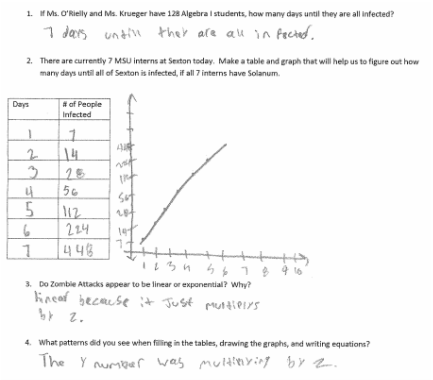 Zombie Attack Math Worksheet Answers