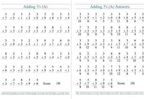 2th Grade Math Worksheets