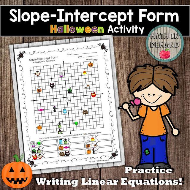 Slope Intercept Form Halloween Activity (writing Linear Equations