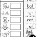 At Family Worksheets For Kindergarten