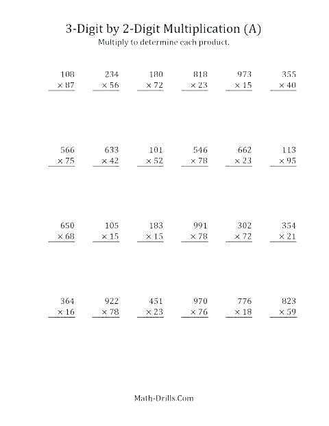 4th Grade Division Worksheets Common Core Grade Math Division