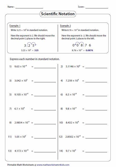 Convert To Standard Notation