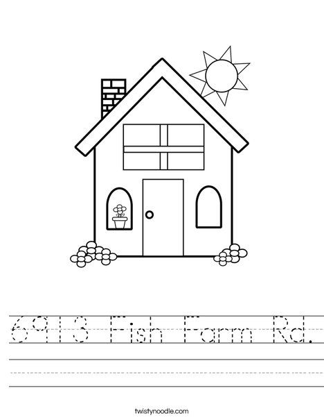 Home Address Worksheet