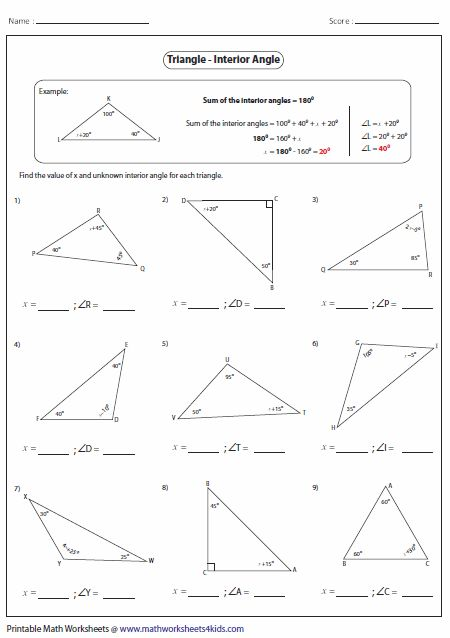 Missing Interior Angles