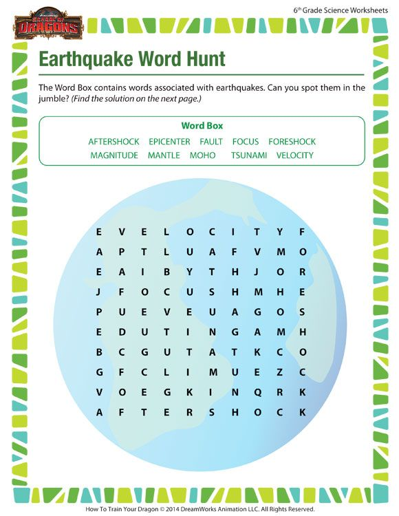 Earthquake Word Hunt