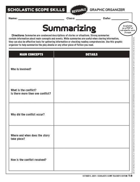 2nd Grade Summarizing Worksheets Summarizing Worksheets For Second