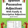 Spanish Descriptive Adjectives Worksheets