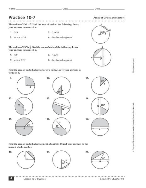 Geometry Worksheets 10th Grade Answers Free High School Geometry