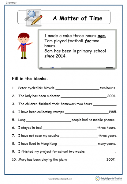 A Matter Of Time English Grammar Worksheet – English Treasure Trove