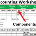 Example Of Worksheets In Accounting
