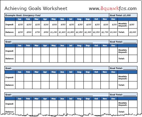 Goal Setting Charts