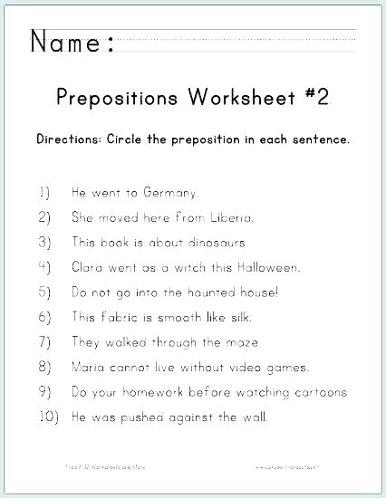 Adjective Worksheets 6th Grade Free Kindergarten Worksheets Ideas