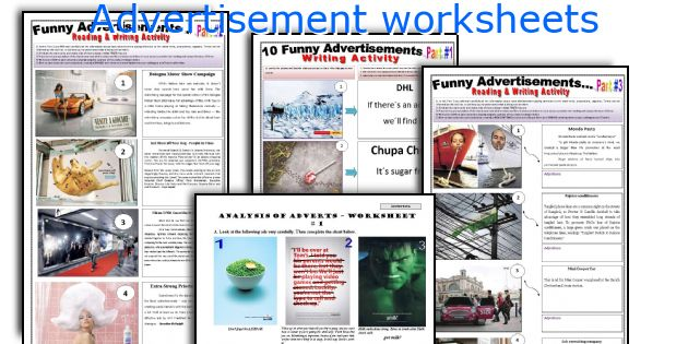 Advertisement Worksheets