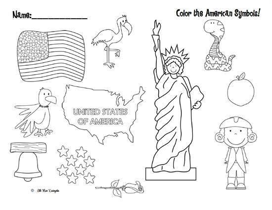 Color The American Symbols  Free Patriotic Printable! – Supplyme