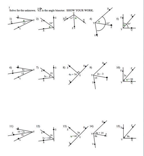 Angle Addition Postulate Worksheet ~ Funresearcher Com