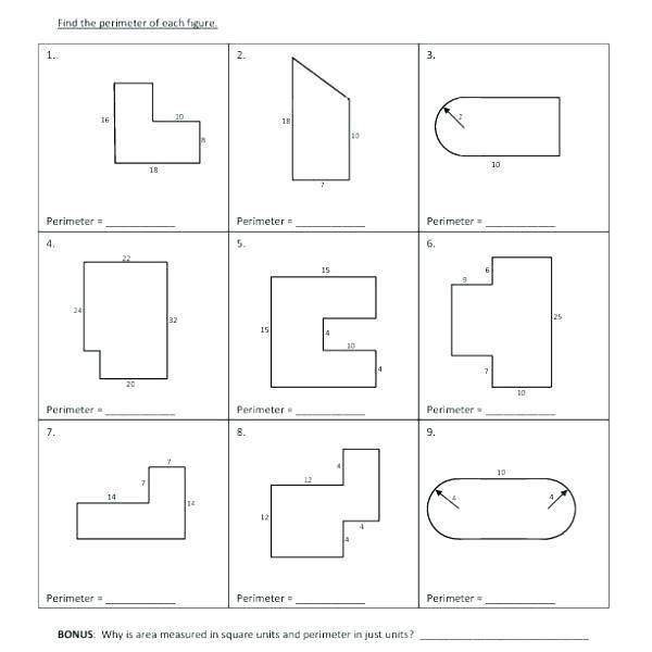 Area And Perimeter Worksheets 5th Grade Free Fifth Grade Math