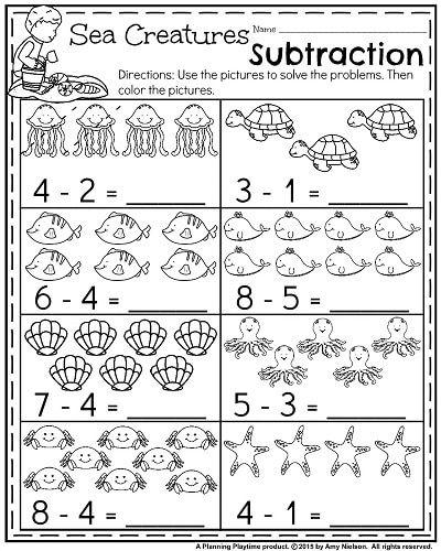 Summer Kindergarten Worksheets