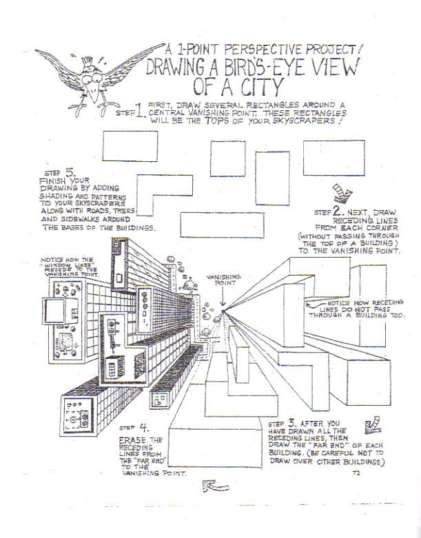 Perspective 1 Worksheet  Bird By ~bluewolfr On Deviantart