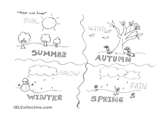Best Images Of Four Seasons Weather Worksheet Weather And Four
