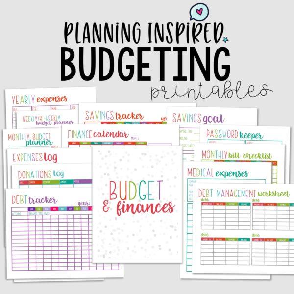 Printable Budget Worksheet Sets