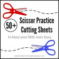 Scissor Cutting Practice Worksheets