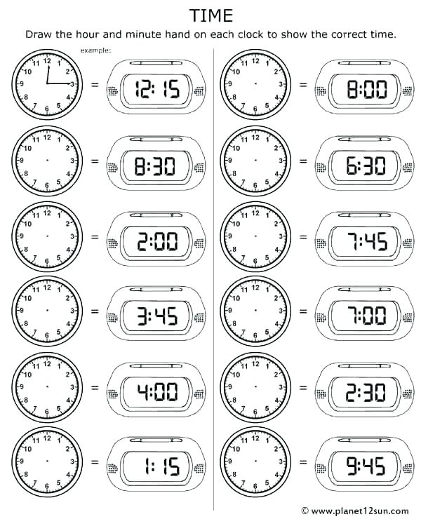 Clock Practice Worksheets 2nd Grade Tamil Worksheets Ideas Telling