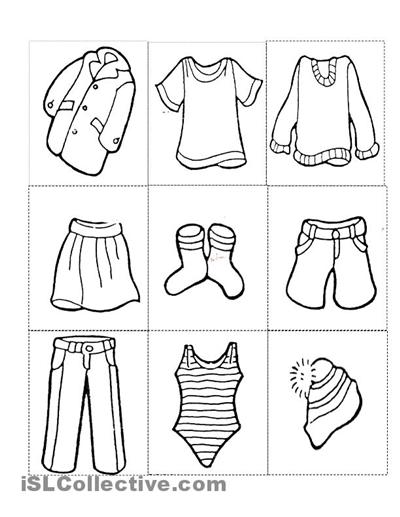 Clothes Free Printable Kindergarten Work  233488
