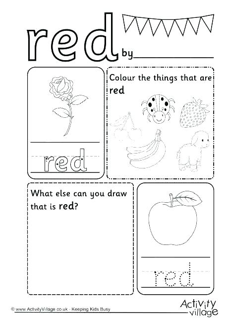 Worksheets Color Yellow Why For Toddlers Red Kindergarten