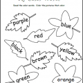 Colours Worksheets For Kindergarten