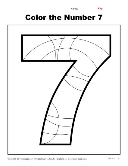 Color The Number 7