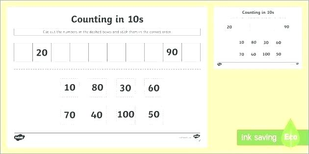 Counting Backwards From 10 Worksheets