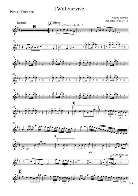 Download I Will Survive, Wedding Band Arrangement (horns + Rhythm