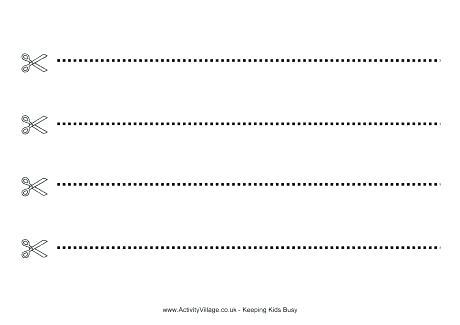 Preschool Scissor Skills Worksheets