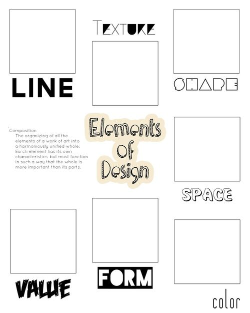 Elements Of Design Scavenger Hunt …