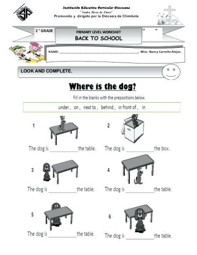 Preposition Worksheets For Grade 1 – Katyphotoart Com