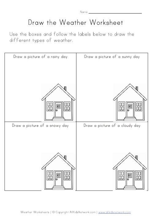 Weather Worksheet For Kinder
