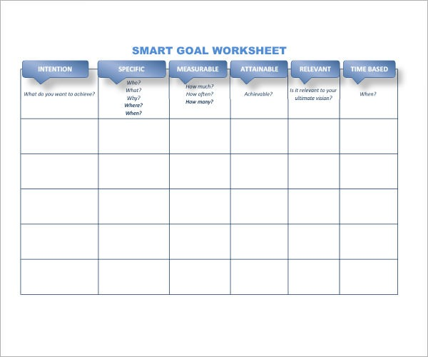 Smart Goal Worksheet Xlsx – Budgeting Excel Templates