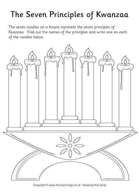 7 Principles Of Kwanzaa Worksheet
