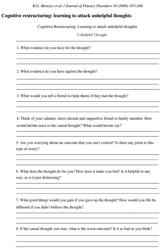 Family Roles Worksheet