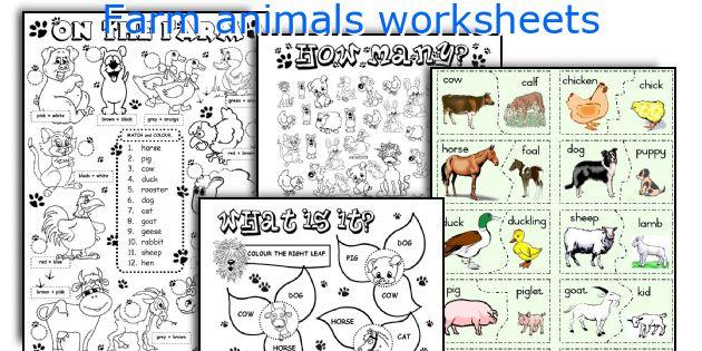 Farm Animals Worksheets