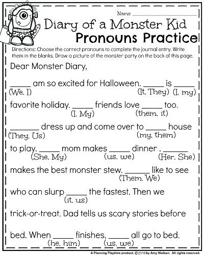 Related Post Possessive Pronoun Worksheet First Grade Pronoun
