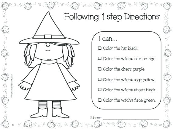 Following Directions Worksheets For Kids