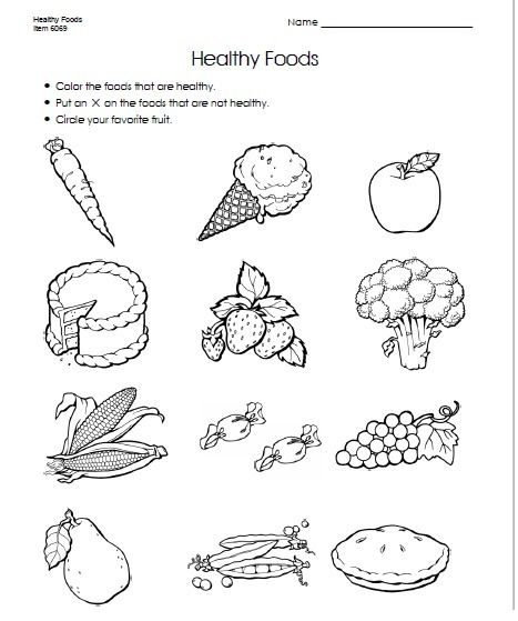 Food Worksheet For Kids (2)