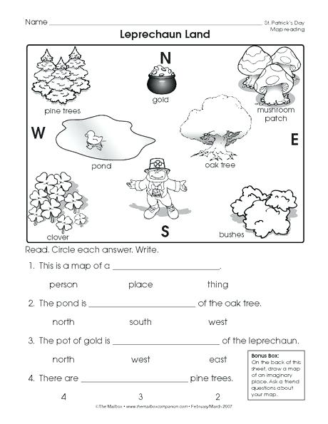 Free Map Skills Worksheets Reading A Map Worksheet Easy And Free