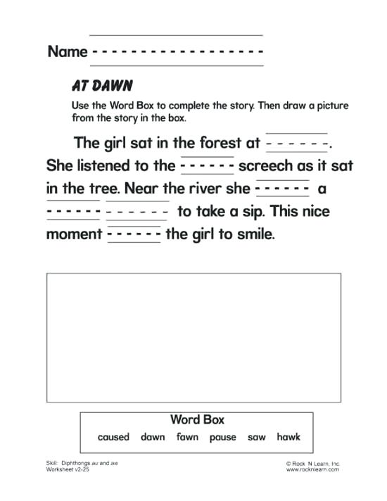 Free Phonics Worksheets For 3rd Grade