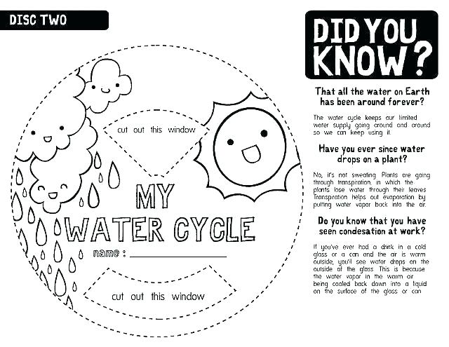 Free Water Cycle Worksheets Water Cycle Worksheet Kindergarten
