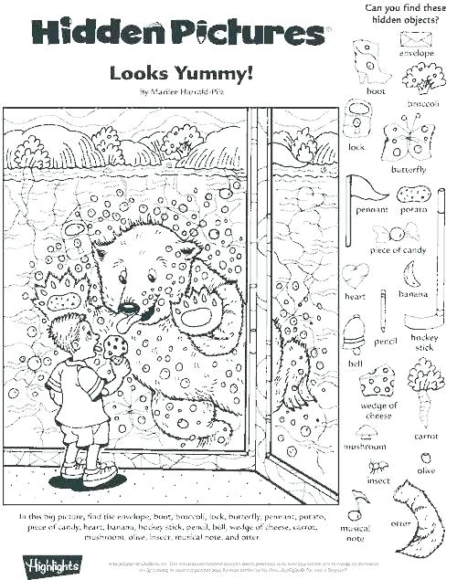 Hidden Objects Worksheets For Middle School